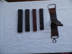 Open razors 4x with hairdressing tool belt