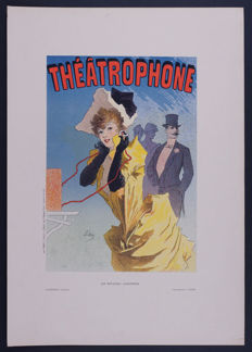 Jules Cheret - 'Theatrophone' original small lithograph poster