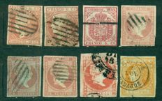 Spain 1852/1993 - Large collection of 1.530 stamps + 8 minisheets