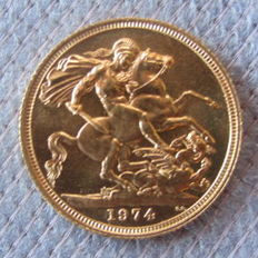 Great Britain – Sovereign 1974 – Elizabeth II – Gold