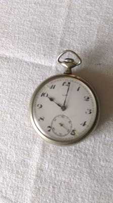 Pocket watch in silver-plated metal from the brand Lip