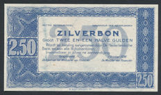 Netherlands - 2 guilders 1938 - Silver certificate - Proof without number and signature - NVMH 13