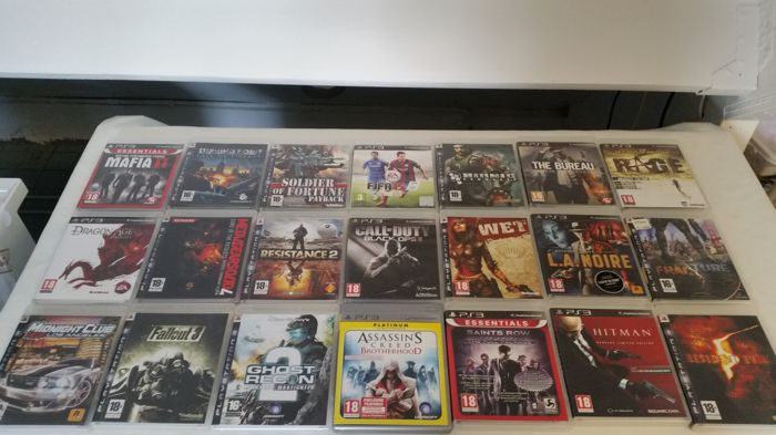 Great collection of 21 pcs. games for the PlayStation 3 o. a Black Ops 2, Mafia 2, Resident for sale