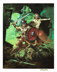 Conan and Red Sonja - Print - Signed Limited Edition H.C. - Sanjulian