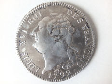 France – Louis XVI (Revolution) – Ecu of 6 Livres 1792-A Paris – Silver