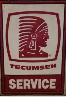 Tecumseh advertisement - from '1990 Texaco Gas Station USA