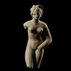 Greek Tanagra Female Figure -  143 mm / 245 mm with base