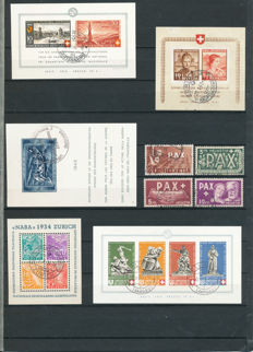 Switzerland 1907/2015 – Entirely Complete Collection Apart from Three Stamps + Various Types of Paper