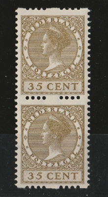 The Netherlands 1926 - two-sided interrupted perforation - NVPH R 30, vertical pair