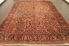 Beautiful, antique handwoven Jugendstil Persian rug, US American Sarough Saruk made in Iran, 260 x 355 cm
