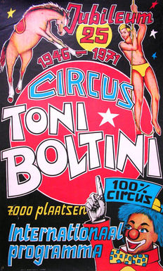Anonymous  -  Circus Toni Boltini + 3 posters -  1971