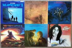 """Moody Blues and members Denny Laine and Graeme Edge lot of 6 lp Albums: """"#1 Go now"""" """"To our childrens children children"""" """"On the threshold of a dream"""" """"Every good boy deserves favour"""" Kick off your muddy boots"""" """"Ahh...Laine!"""""""