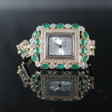 Hand-made 925 silver jewellery women's watch