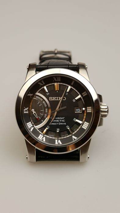 Seiko Premier Kinetic Direct Drive wristwatch – Men s wristwatch ... ea8cf452ce