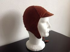One pair  ( 2 pieces. )  Molton driving Helmets  New from Oldstock      Cognac Brown size 56cm