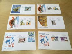 Spain 1963/1996 – Lot of 260 different First Day Covers (FDC).