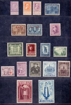 Belgium 1893/1939 - Advanced collection on Davo album sheets - between OBP 53 and 526