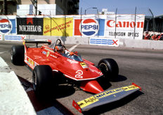 1980 Monaco Grand prix Giles Villeneuve  Ferrari  Colour Photograph