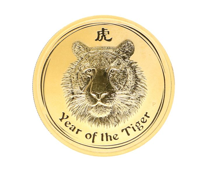 Australie - 100 Dollars 2010 Year of the Tiger - 1 oz .999 - Or