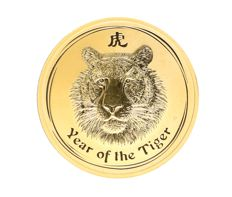 Australia – 100 dollars 2010 'Year of the Tiger' – 1oz gold
