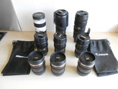 9 lenses of Nikon and Canon as bowl or thermos bottle/bowl.