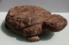 Solid stone statue of a turtle, Buddhist temple fragment - 26.5 x 20 x 7.5 cm