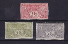 Netherlands 1906 – Tuberculosis stamps – NVPH 84/86