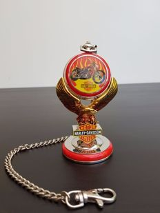 "Harley Davidson ""Billy Bike"" collector's pocket watch on a stand - Franlin Mint"