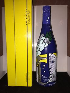 1995 Champagne Taittinger collection lichenstein - 1 bottle in original coffret