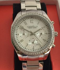 Bulova Caravelle New York .Women's crystal and Mother Of Pearl watch. Unworn.