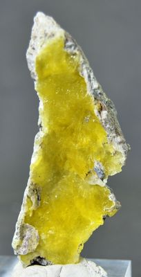 New Find Lemon Yellow Rare Brucite Specimen - 80 x 30 x 20mm - 32GM