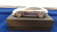 Porsche Panamera GII 2016 - solid aluminium Paperweight in luxury gift packaging - scale 1/43