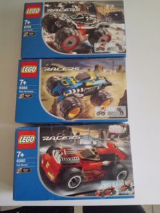 Racers / Technic - 8 sets o.a. 8252 + 8253 + 8255 - Beach Buster + Fire Helicopter + Rescue Bike