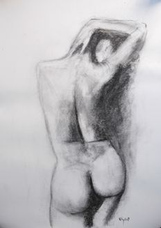 Original work; Terence Kelly -  Life Study nude - 2017