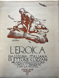 L'Eroica Issues no. 129 and 130 year 1929 of the Collection Fondo Ettore Cozzani