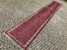 Long Persian Hamadan Rug Hand knotted 500x80 cm