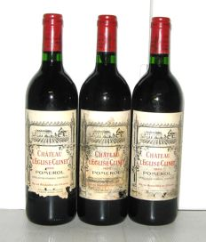 1992 Château l'Eglise Clinet, Grand Vin de Pomerol - Lot of 3 bottles
