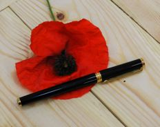 Mont Blanc. Fountain Pen Noblesse Obligue. Black Resin and Gold