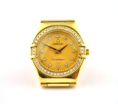 OMEGA Constellation Diamond & solid 18karat Yellow Gold Luxury Ladies' Watch
