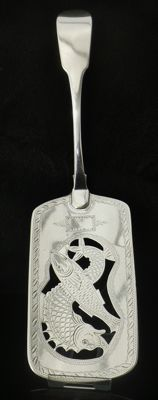Antique Silver Fish Slice, Dublin 1813, Samuel Neville