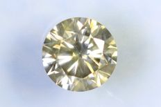Diamant  0.43 ct - SI1 - Fancy Yellowish Gray