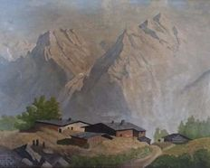 Emil Brehm (XX, attributed) - Tyrolean landscape