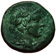 Greek Antiquity - Pontos, Amisos, Time of Mithradates - Æ Bronze (18mm; 4,88g.), ca. 85-65 BC - Dionysos / Cista mystica - HGC 7, 243
