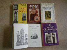 Kavel 5 books on clocks and technical aspects on  clockmaking 1970-1978