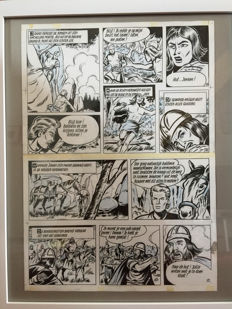 Biddeloo, Karel - 2 Original half pages - De Rode Ridder 37 - De Wilde Jacht - (1968)
