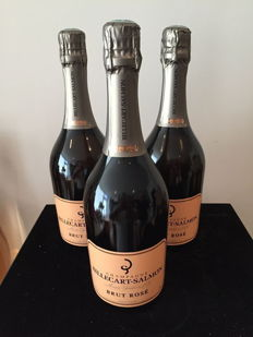 Billecart-Salmon Rosé Champagne - lot of 3 bottles (75cl)