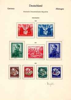 GDR or East Germany – 1949 – 1975 – Collection with Debria Block, German- Chinese Friendship and much more