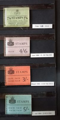 Great Britain 1958/1978 - Collection of stamp booklets and 4 postcards