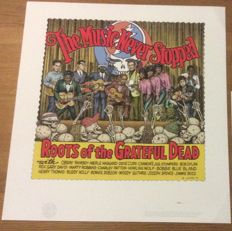 Robert Crumb - Limited Ciglée print - The Music never stopped - Roots of the Grateful Dead - (2007)