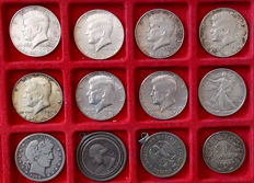 World - Lot of 12 coins (Germany, Switzerland, USA) 1908/1969 - Silver